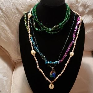 FOUR BEAUTIFUL NECKLACES FOR THE PRICE OF ONE